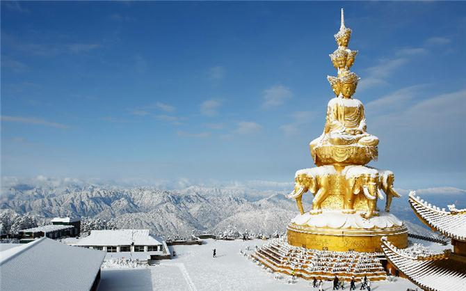 Emei Mountain in winter