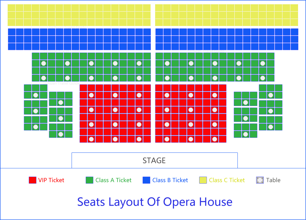 Sichuan Opera House Seat Map