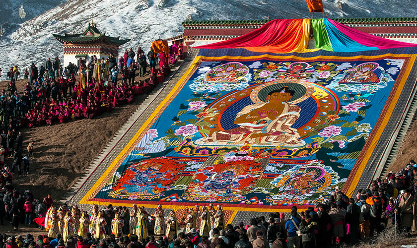 Langmusi during Tibetan New Year