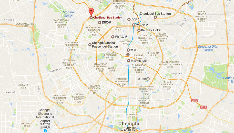 Chadianzi Bus Station Location